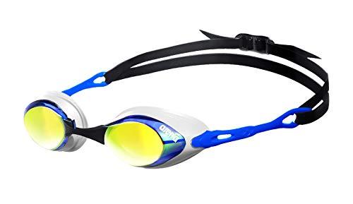 arena Unisex Wettkampf Profi Schwimmbrille Cobra Mirror Verspiegelt (UV-Schutz, Anti-Fog...