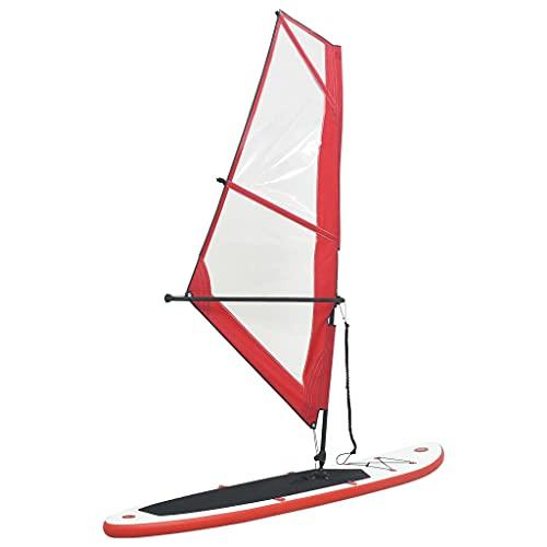 vidaXL Stand Up Paddleboard Set mit Segel Tragetasche Aufblasbar SUP Paddle Paddling Board...