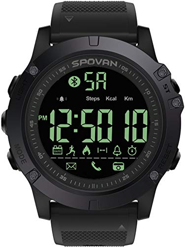 Smartwatch Herrenuhr 5ATM Wasserdicht IP68 Schwimmen Schrittzähler Kamera Bluetooth Fitness Tracker...
