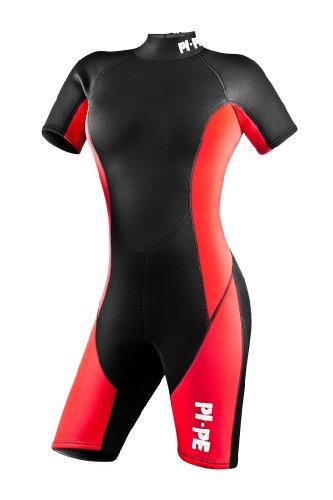 PI-PE Damen Neoprenanzug Pure, Rot, XL