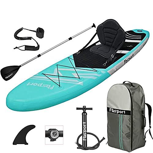 FBSPORT Aufblasbares SUP Board mit Sitz, Stand Up Paddle Board 15 CM Dick, Stand Up Paddling Board...
