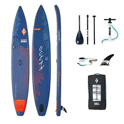 Aztron AQUATONE Ocean 14.0 Race Touring iSUP aufblasbar Surfboard, Stand Up Paddle 426x69x15