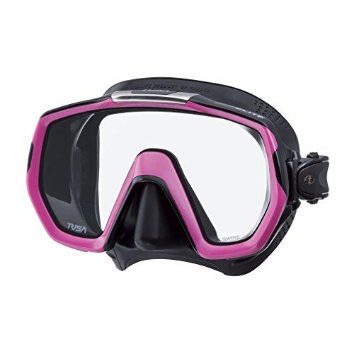 Taucherbrille Tusa Freedom Elite - einglas tauchmaske schnorchelmaske damen - rosa silikon schwarz