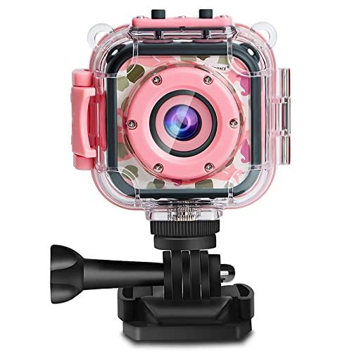PROGRACE Kids Camera 1080P Digitale Foto- / Videokameras Unterwasser-Actionkamera Wasserdicht 98...