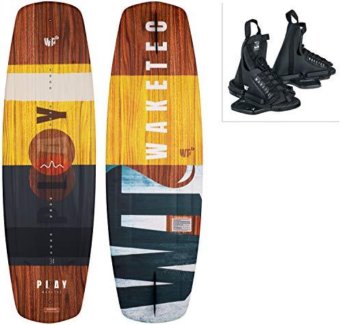 WAKETEC Wakeboard-Set Play mit OnSet Bindung, Package für Anfänger und Fortgeschrittene, 134 cm...