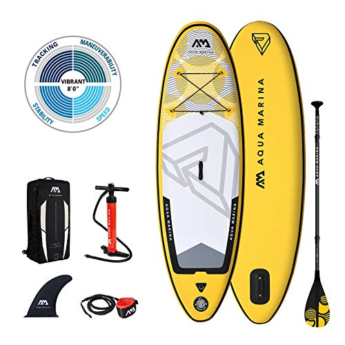 AM Aqua Marina Stand Up Paddle Board im Set für Jugendliche Vibrant iSUP 8'0'' SUP-Board...