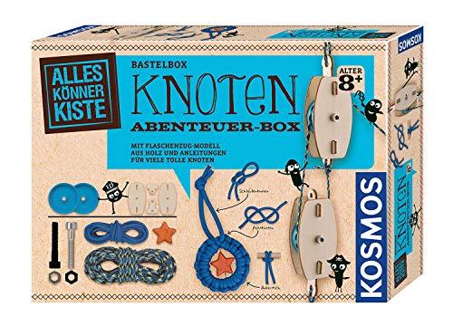 KOSMOS 604325 AllesKönnerKiste Knoten Abenteuer-Box Flaschenzug-Modell