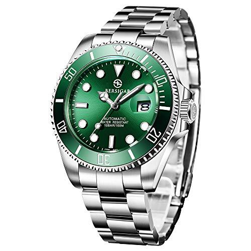 BERSIGAR Mechanische Herrenuhren Automatic Divers beobachtet die analoge Automatik-Uhr der Männer...