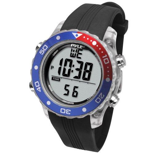 Pyle Schnorchel und Tauch Multifunktions Wassersport-Uhr mit Tauchmodus Chronograph Tauchtiefe,...